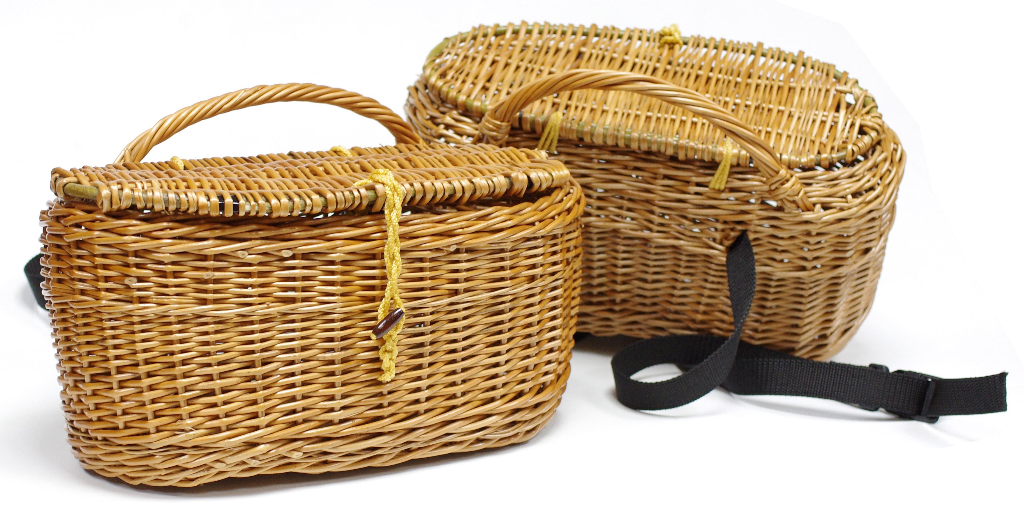 сумка рыбака из ивовых прутьев