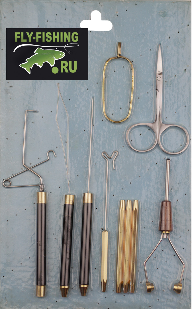 DR SLICK TYER SET 7 tools in case Fly Tying